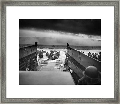 Into The Jaws Of Death Framed Print by Robert Sargent