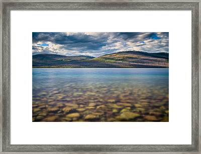 Into The Lake Framed Print