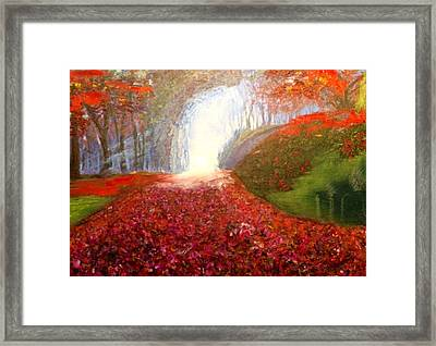 Framed Print featuring the painting Into The Light by Belinda Low