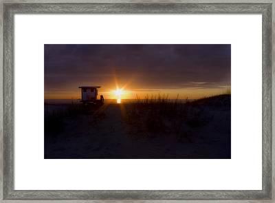Into The Light Framed Print by Ellen Heaverlo