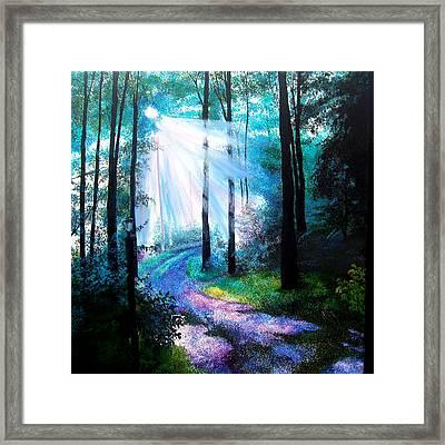 Into The Light. Framed Print by Jennifer  Blenkinsopp