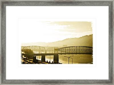 Framed Print featuring the photograph Into The Light by Joe Winkler