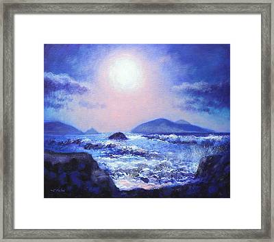 Into The Light The Blasket Islands  Framed Print by John  Nolan