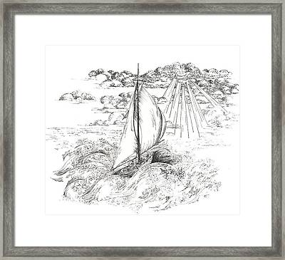 Into The Light Framed Print by Meldra Driscoll