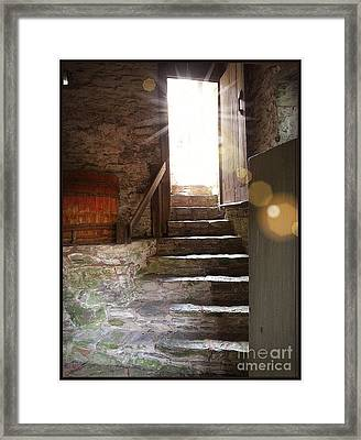 Framed Print featuring the photograph Into The Light - The Ephrata Cloisters by Joseph J Stevens
