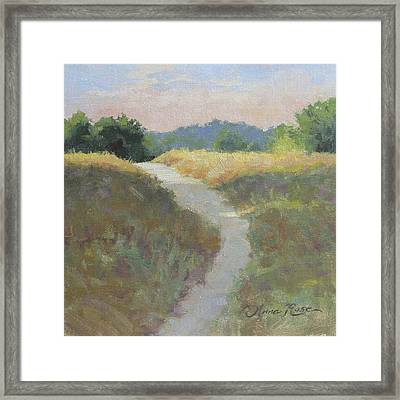 Into The Morning Light Framed Print by Anna Rose Bain
