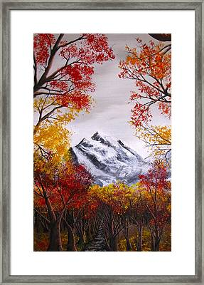 Into The Mountains Framed Print by Pheonix Creations