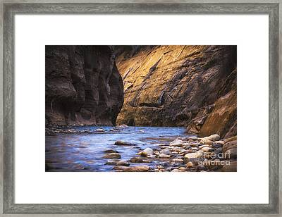 Into The Narrows Framed Print by Jennifer Magallon