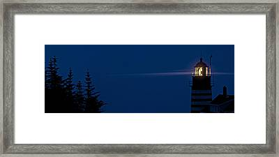 Into The Night Framed Print by Marty Saccone