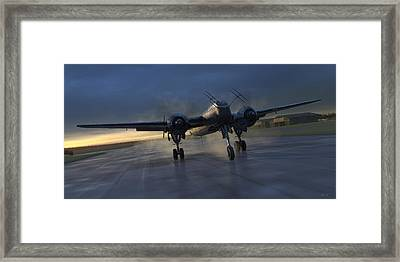 Into The Night Framed Print by Robert Perry