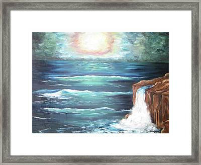Into The Ocean II Framed Print by Cheryl Pettigrew