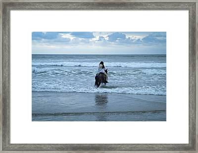Framed Print featuring the photograph Into The Ocean by Lana Enderle