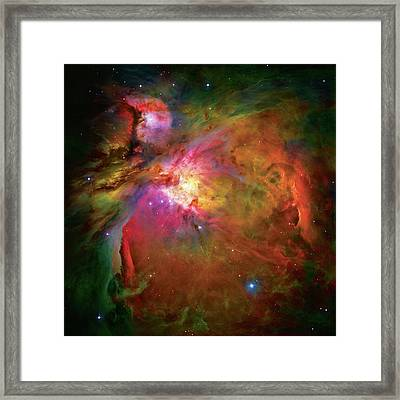 Into The Orion Nebula Framed Print