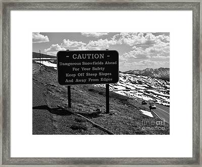 Into The Rockies Framed Print
