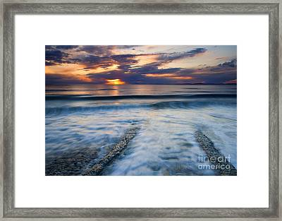 Into The Sea Framed Print by Mike  Dawson