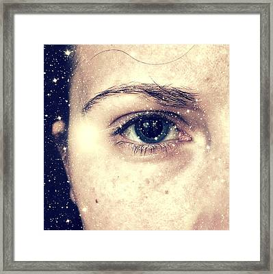 Into The Starry Darkness Framed Print