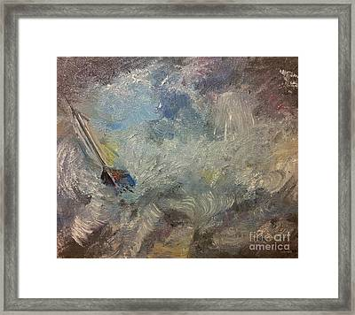 Into The Storm Framed Print by Isabella F Abbie Shores FRSA