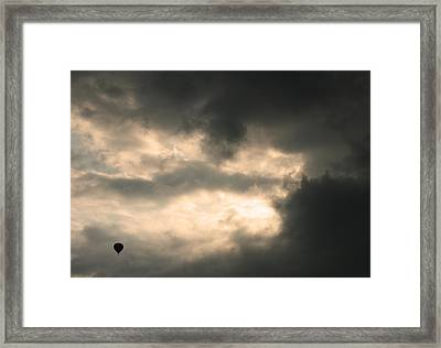 Into The Storm Framed Print by Debi Dmytryshyn