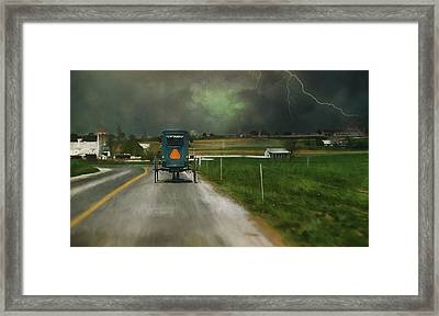 Into The Storm II Framed Print by Kathy Jennings