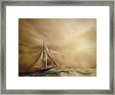 Into The Storm Framed Print by Lonnie Christopher