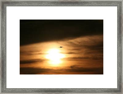 Framed Print featuring the photograph Into The Sun by David S Reynolds