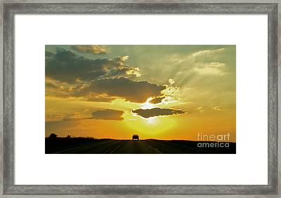 Into The Sunset - No.0580 Framed Print