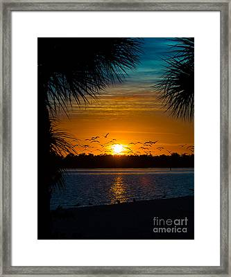 Into The Sunset Framed Print by Anne Kitzman