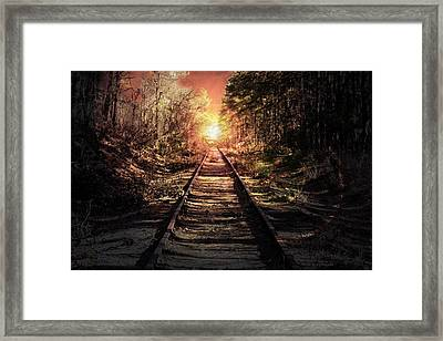 Into The Sunset Framed Print by Jessica Cirz