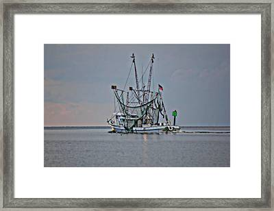 Into The Sunset Framed Print by Lynn Jordan