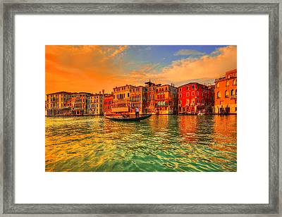 Into The Sunset Framed Print by Midori Chan