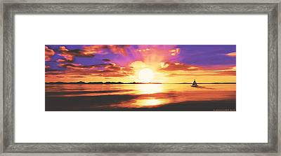 Into The Sunset Framed Print by Sophia Schmierer