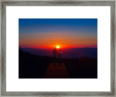 Into The Sunset Together Framed Print
