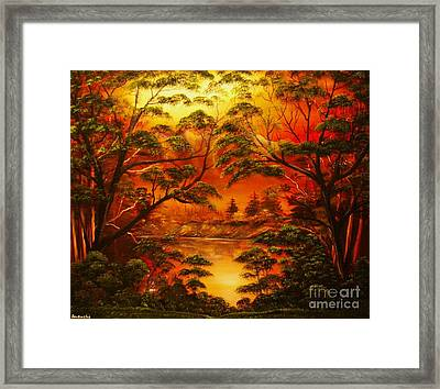 Into The Twilight-original Sold-buy Giclee Print Nr 29 Of Limited Edition Of 40 Prints  Framed Print