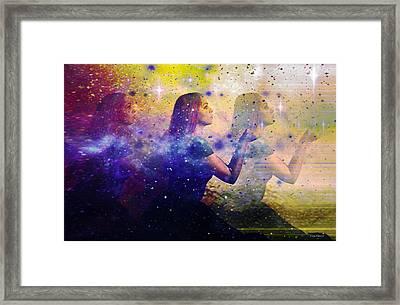 Into The Universe Framed Print by Linda Sannuti