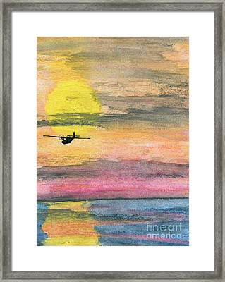 To The Unknown - Pby Catalina On Patrol Framed Print