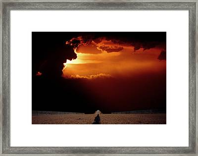 Framed Print featuring the photograph Into The Unknown by Thomas Bomstad