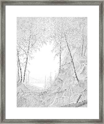 Into The Valley Framed Print by Carl Genovese