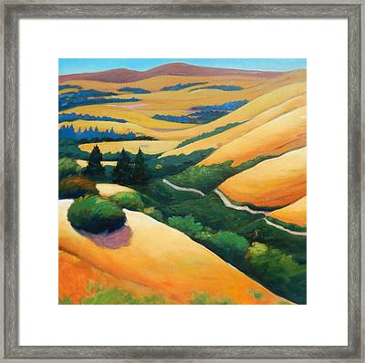 Into The Valley Framed Print by Gary Coleman