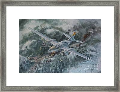 Into The Valley Of Death Framed Print by Randy Green