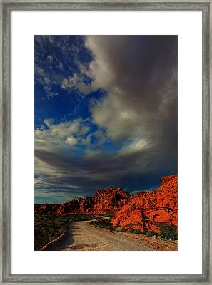 Into The Valley Of Fire Framed Print by Rick Berk