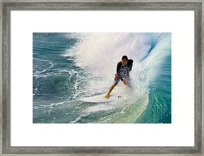 Into The Vortex Framed Print by Laura Fasulo