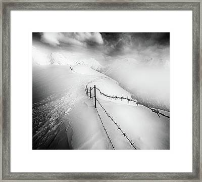 Into The White Framed Print