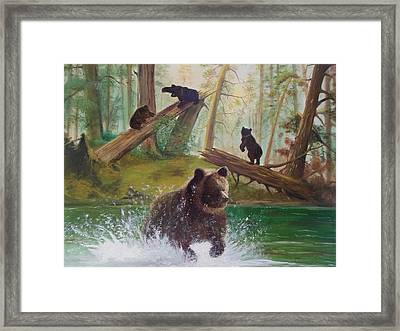 Into The Wild Framed Print by Chris Lambert