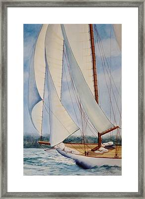 Into The Wind Framed Print by Judy Meng