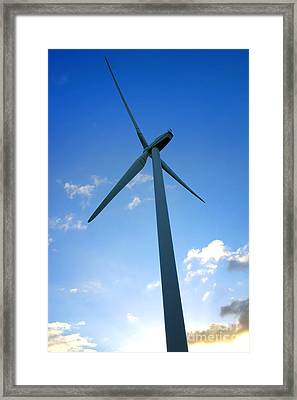 Into The Wind Framed Print by Olivier Le Queinec