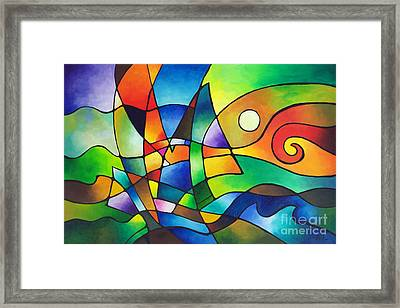 Into The Wind Framed Print