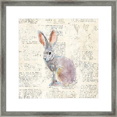 Into The Woods I No Border Framed Print by Emily Adams