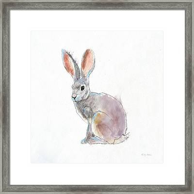 Into The Woods I On White No Border Framed Print by Emily Adams