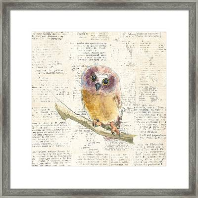 Into The Woods II No Border Framed Print by Emily Adams