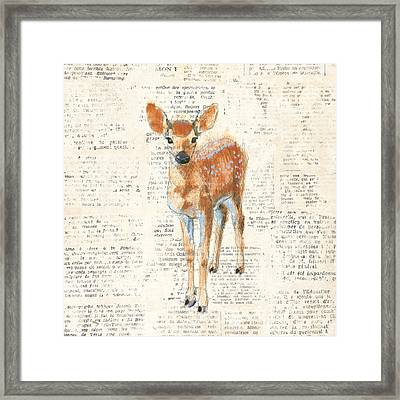 Into The Woods IIi No Border Framed Print by Emily Adams
